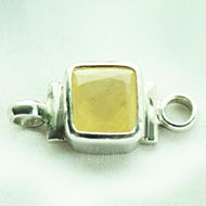 Yellow Sapphire bracelet in pure silver