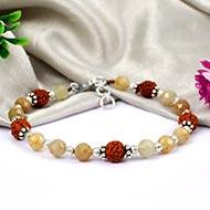 Yellow Sapphire with Rudraksha Bracelets - III